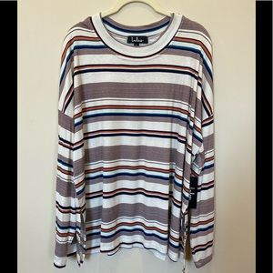 Lulus multi colored striped top!